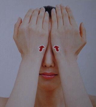 目の周りのリンパマッサージ